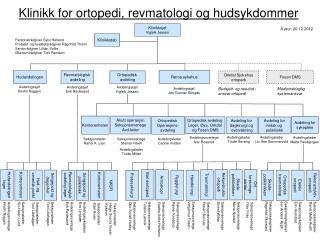 Klinikk for ortopedi, revmatologi og hudsykdommer