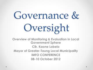 Governance & Oversight