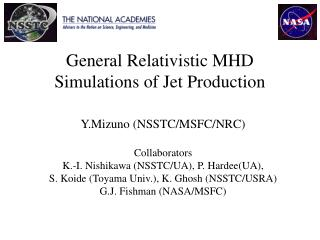 General Relativistic MHD Simulations of Jet Production