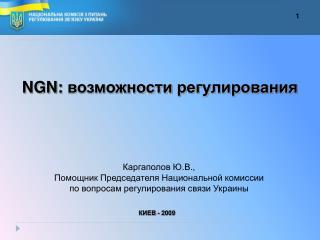 NGN:  возможности регулирования