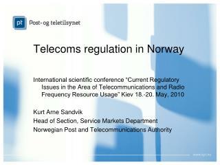 Telecom s  regulation in Norway