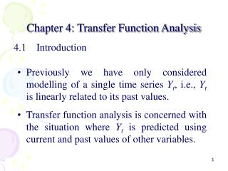 Chapter 4: Transfer Function Analysis