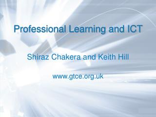 Professional Learning and ICT