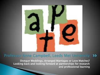 Professor Anne Campbell, Leeds Met University