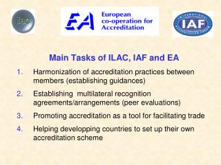 Harmonization of accreditation practices