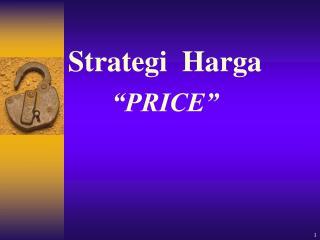 """Strategi   Harga """"PRICE"""""""