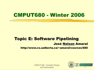 CMPUT680 - Winter 2006
