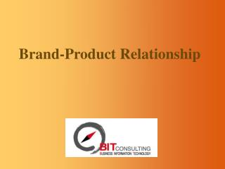 Brand-Product Relationship