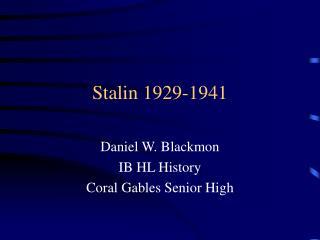 Stalin 1929-1941