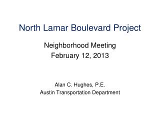 North Lamar Boulevard Project