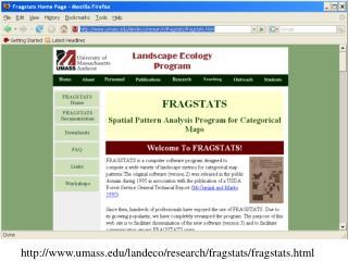 umass/landeco/research/fragstats/fragstats.html
