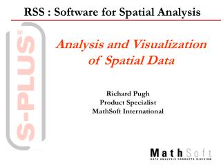 Analysis and Visualization  of Spatial Data