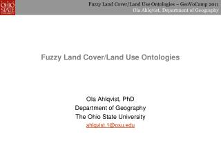 Fuzzy Land Cover/Land Use Ontologies