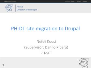 PH-DT site migration to Drupal