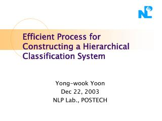 Efficient Process for Constructing a Hierarchical Classification System