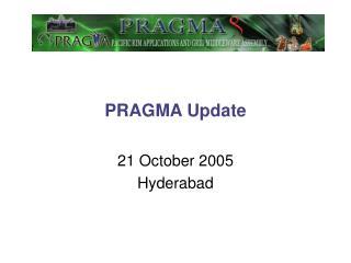PRAGMA Update