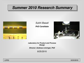 Summer 2010 Research Summary