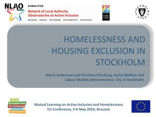 Homelessness and housing exclusion in  stockholm