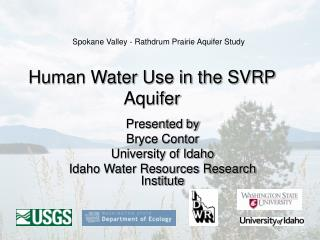 Human Water Use in the SVRP Aquifer