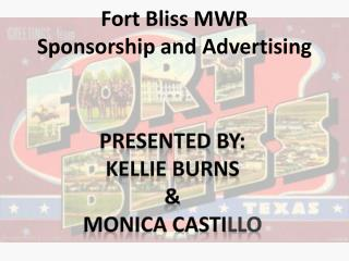Fort Bliss MWR Sponsorship and Advertising