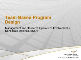 Team Based Program Design