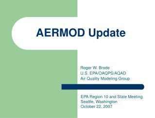 AERMOD Update
