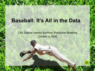 Baseball: It's All in the Data