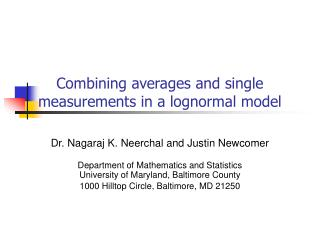 Combining averages and single measurements in a lognormal model