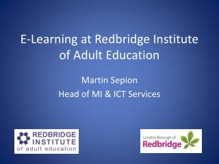 E-Learning at Redbridge Institute of Adult Education