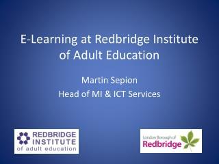 E-Learning at Redbridge Institute of Adult Education