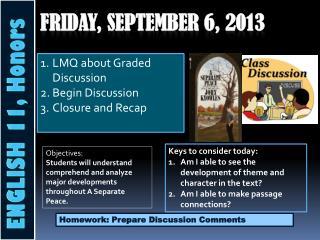 Friday,  September  6 , 2013