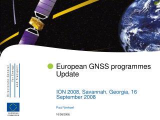European GNSS programmes Update