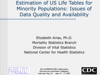 Estimation of US Life Tables for Minority Populations: Issues of Data Quality and Availability