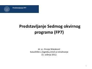Predstavljanje FP7