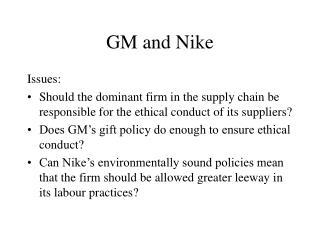 GM and Nike