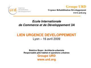 Groupe URD Urgence Réhabilitation Développement urd