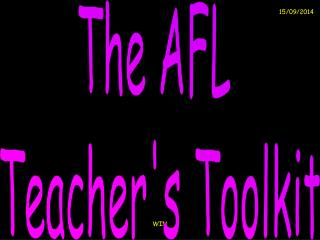 The AFL  Teacher's Toolkit