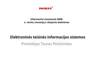 Elektroninės teisinės informacijos sistemos