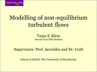 Modelling of non-equilibrium turbulent  flows