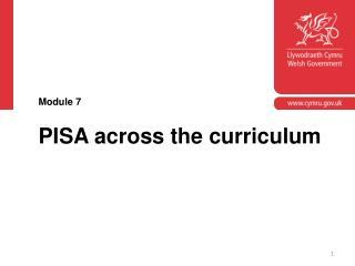 PISA across the curriculum