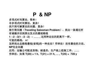 P 对 NP 问题 (Computation )