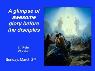 St. Peter  Worship