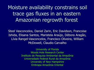 Moisture availability constrains soil trace gas fluxes in an eastern Amazonian regrowth forest
