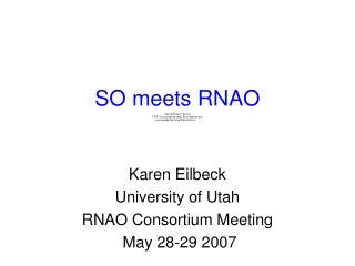 SO meets RNAO