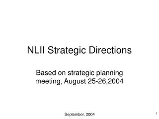 NLII Strategic Directions