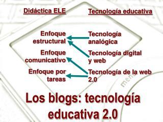 Los blogs: tecnología educativa 2.0