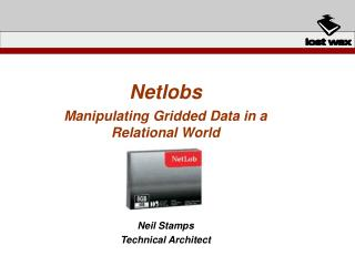 Netlobs Manipulating Gridded Data in a Relational World Neil Stamps Technical Architect