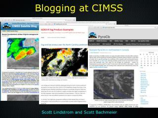 Blogging at CIMSS