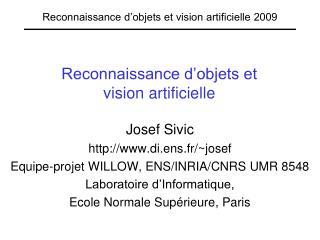 Reconnaissance d�objets et  vision artificielle