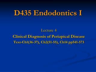 D435 Endodontics I